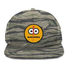 Smiley Shot Snapback Tiger Camo