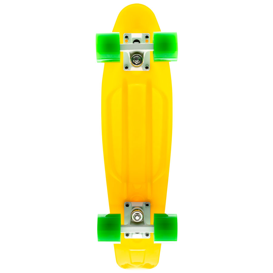 Пластиковый-лонгборд-9.8-Yellow