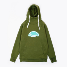 Anteater hoodie-patch_haki
