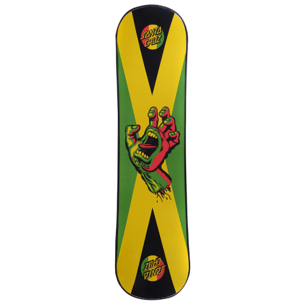 SANTA CRUZ-SNOW Rasta Hand black plank