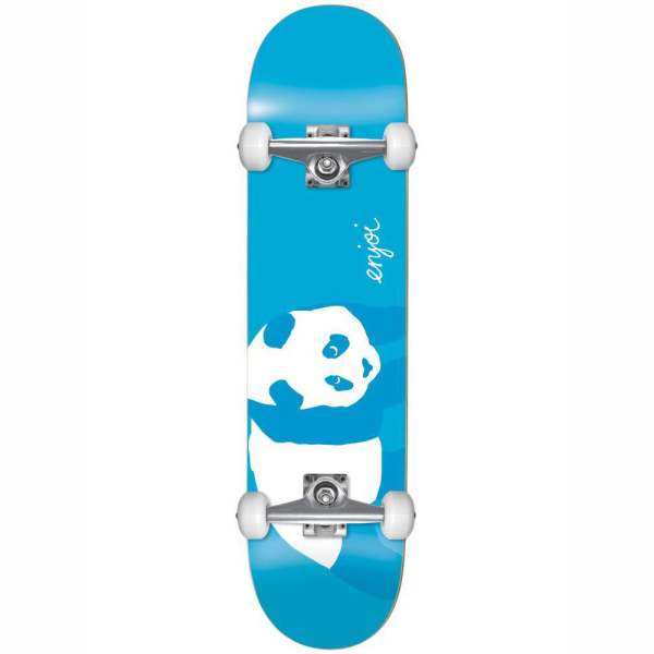 Enjoi SS19 Blue Panda Resin Soft Wheels Complete Neon Blue 8.0 FULL